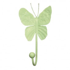 Wall Hook Butterfly Light Green