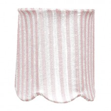 Shade Chandelier Scallop Drum Pink and White