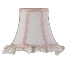 Shade chandelier Pink and White Ruffled Edge