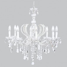 Chandelier Pageant 8 Light White