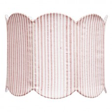Shade Large  Scalloped Drum Pink and White
