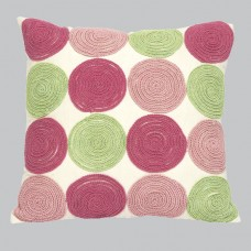 Pillow Circles Pink and Green
