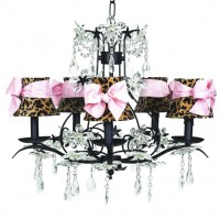 Chandelier Cinderella 5 arm Black Bright Idea
