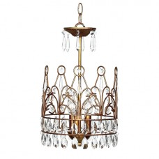 Chandelier Crown 3 Light Gold