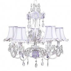Chandelier Flower Garden 5 arm Lavender Bright Idea