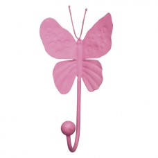 Wall Hook Butterfly Bright  Pink