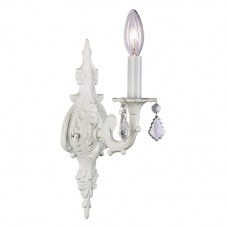 Wall Sconce 1 arm Scroll White