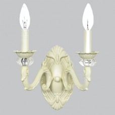 Wall Sconce 2 arm Turret Ivory