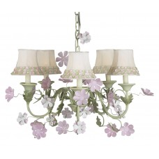 Chandelier Leaf and Flower 5 arm Bright Idea
