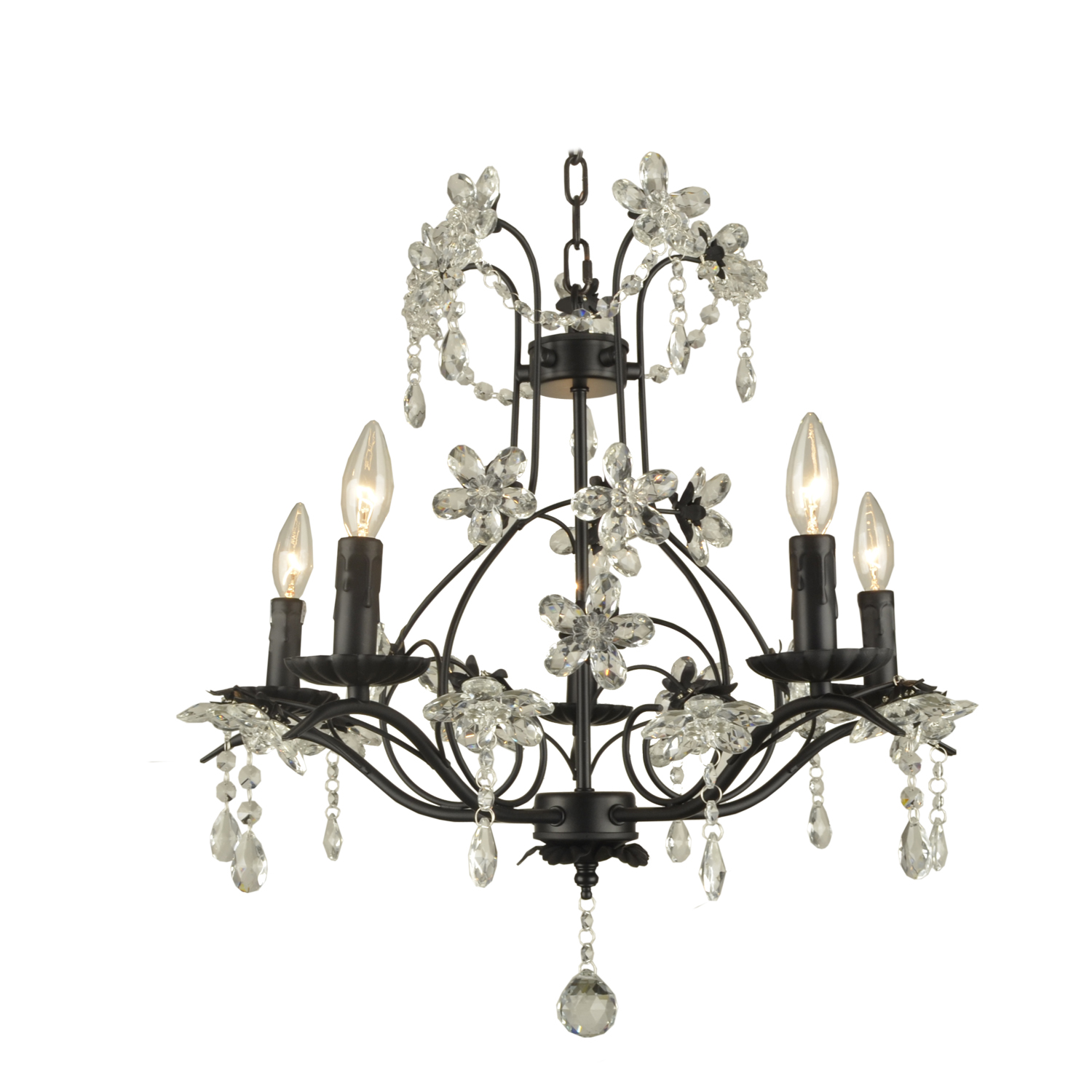 Chandelier Cinderella 5 Light Black
