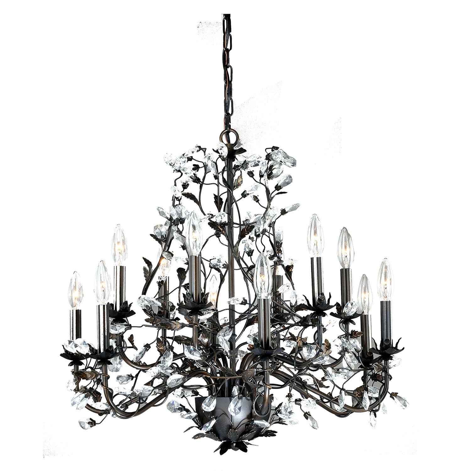 Chandelier Winter Tree 12 Light  Silver
