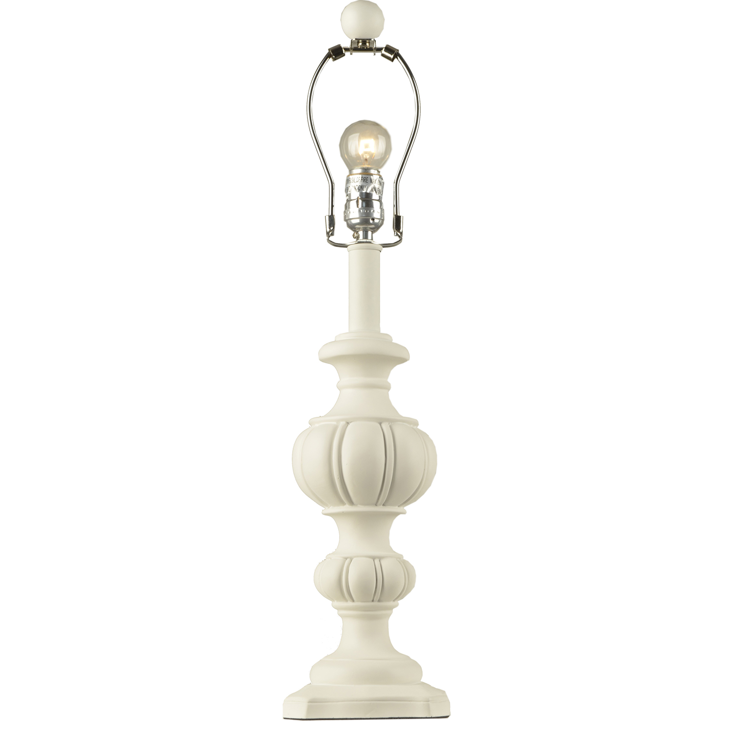 Lamp Base Large Urn White
