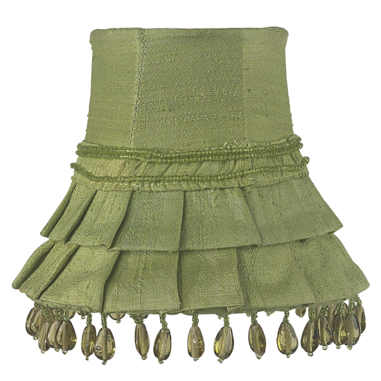 Shade Chandelier Skirt Dangle Green