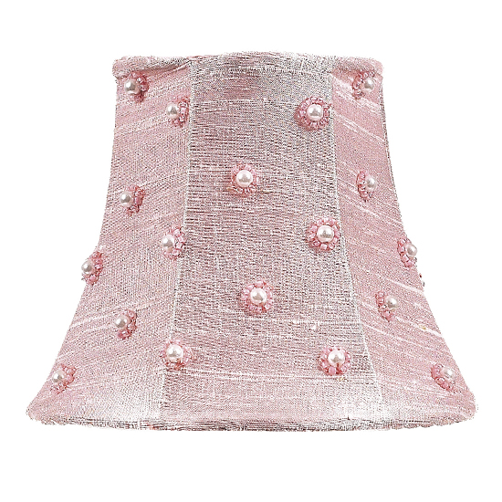 Shade Chandelier Pearl Dot, Pink