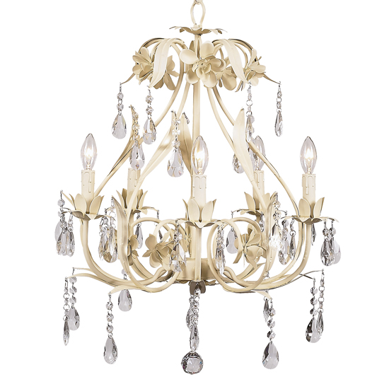 Chandelier Ballroom 5 Light Ivory