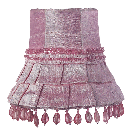 Shade chandelier Pink Skirt Dangle