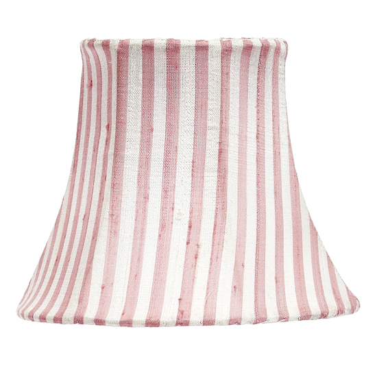 Shade Chandelier With Pink and White Stripes