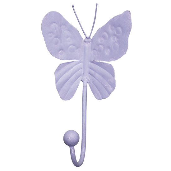 Wall Hook Butterfly Lavender