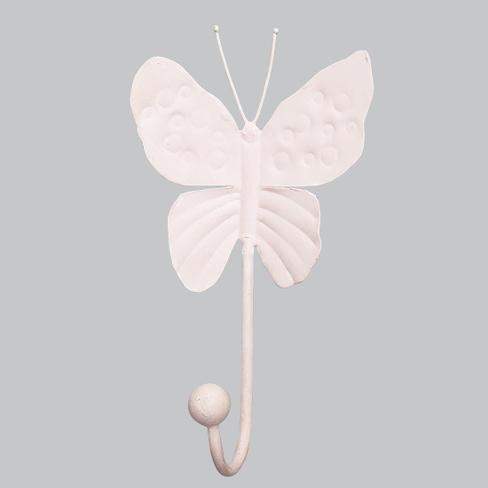 Wall Hook Butterfly  Light Pink