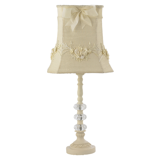 Lamp Base Medium Glass Ball Ivory Bright Idea