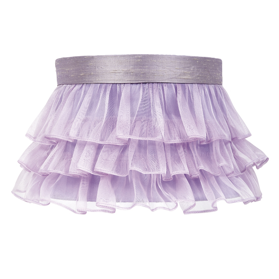 Shade Large Ruffled Sheer Skirt  Lavender