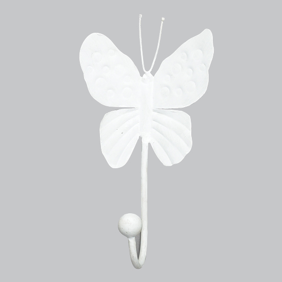 Wall Hook Butterfly White