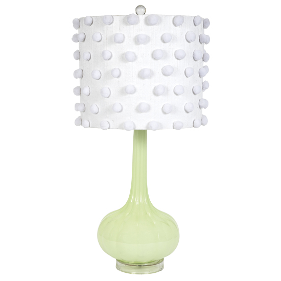 Lamp Base Large Squash  Green Opaque