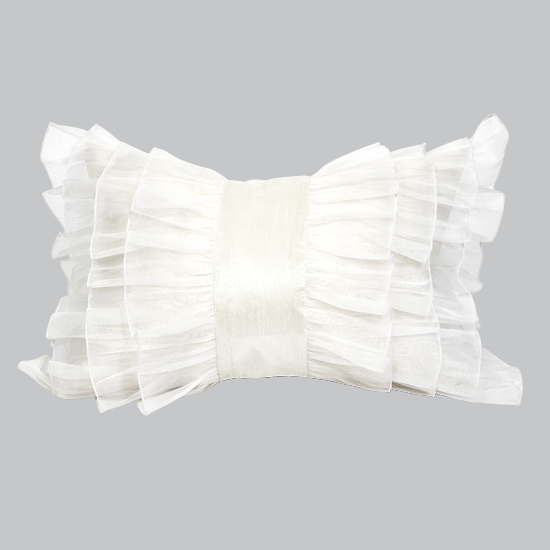 Pillow Ruffle White