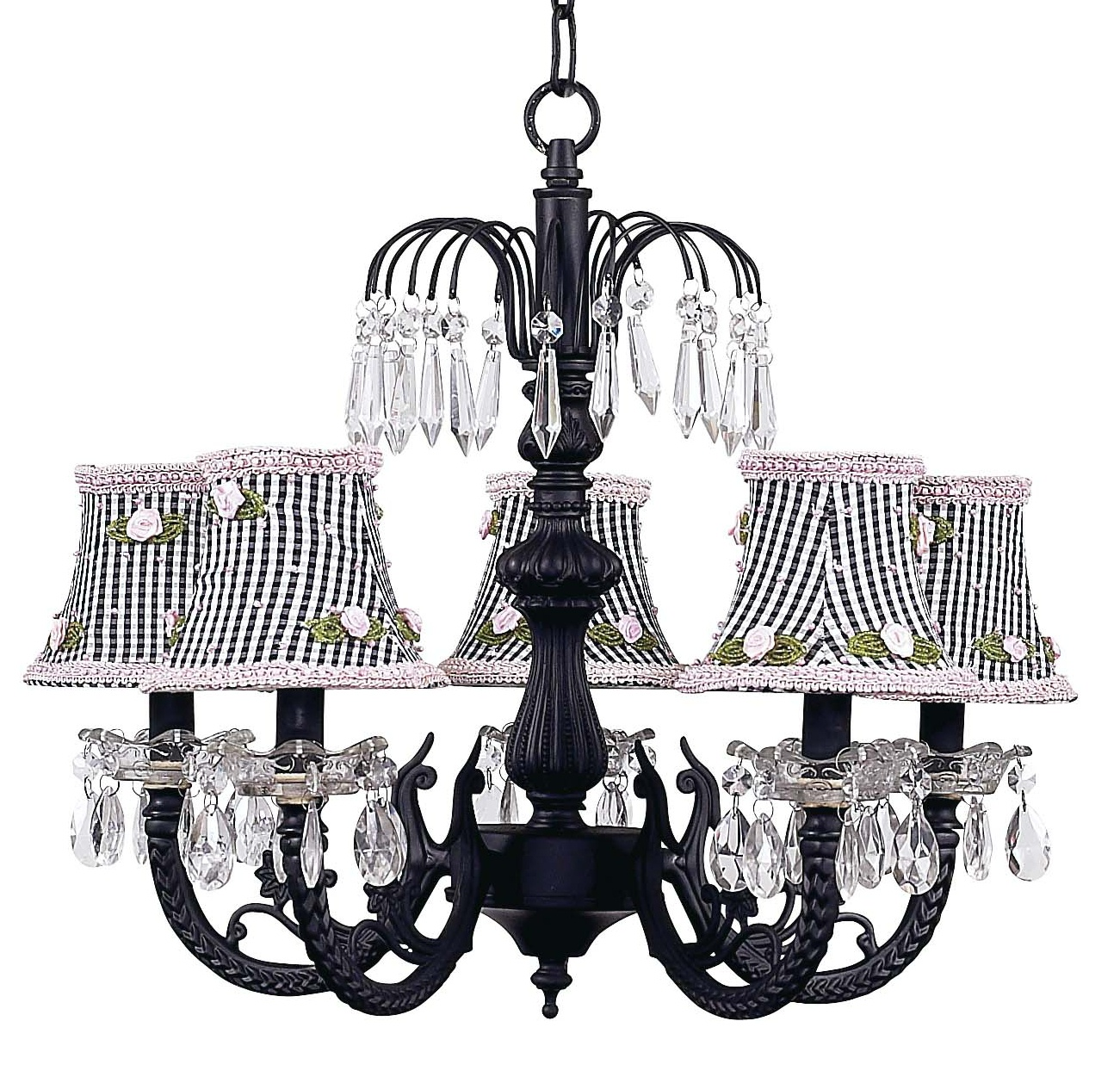 Chandelier Waterfall 5 Light Black Bright Idea