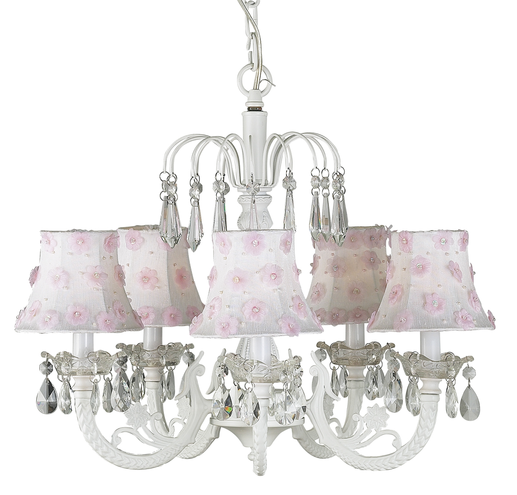 Chandelier Waterfall 5 Light White Bright Idea