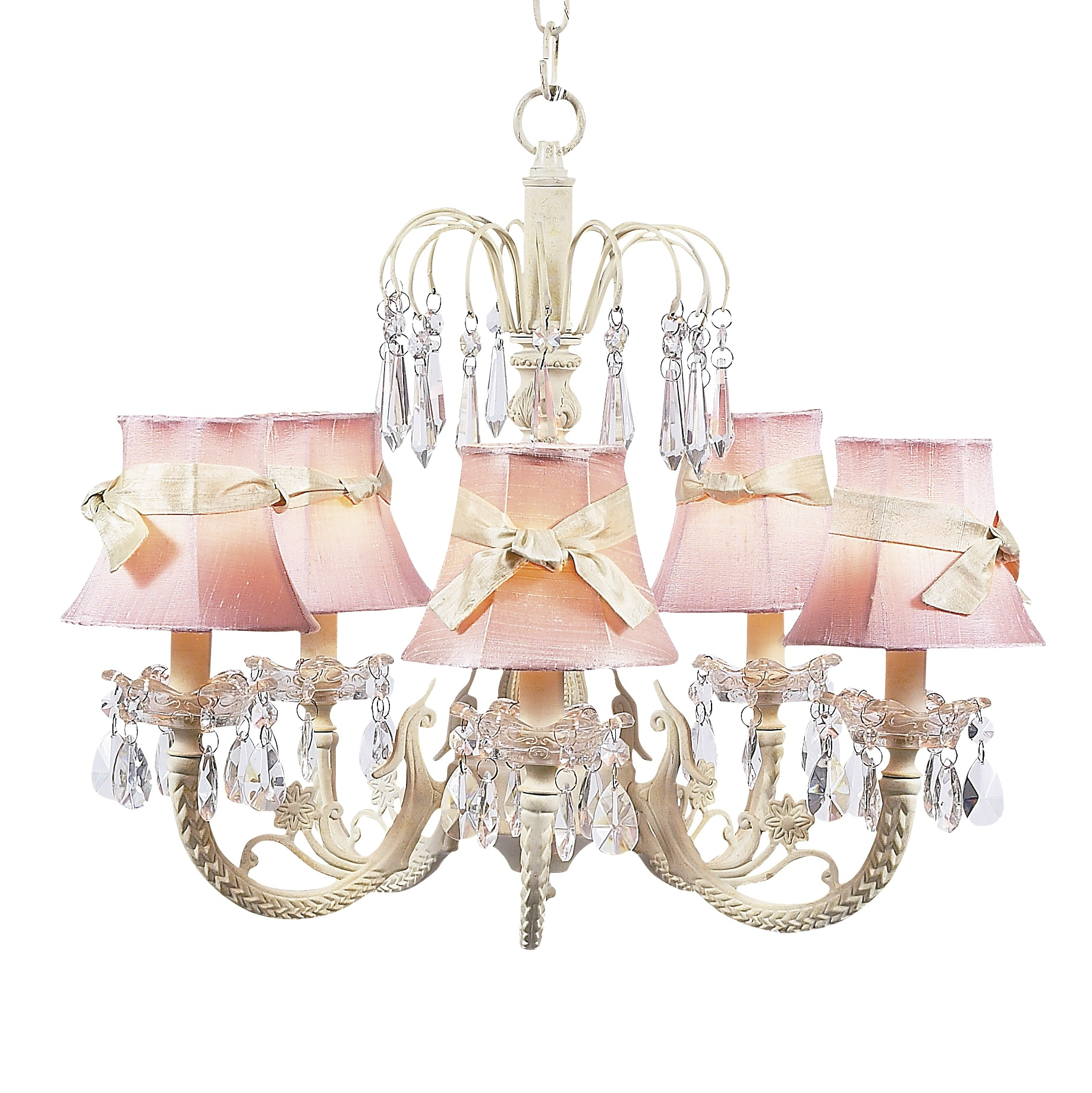 Chandelier Waterfall 5 Light Ivory Bright Idea