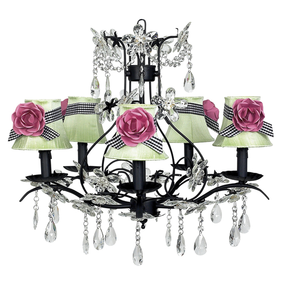 Chandelier Cinderella 5 Light Black Bright Idea