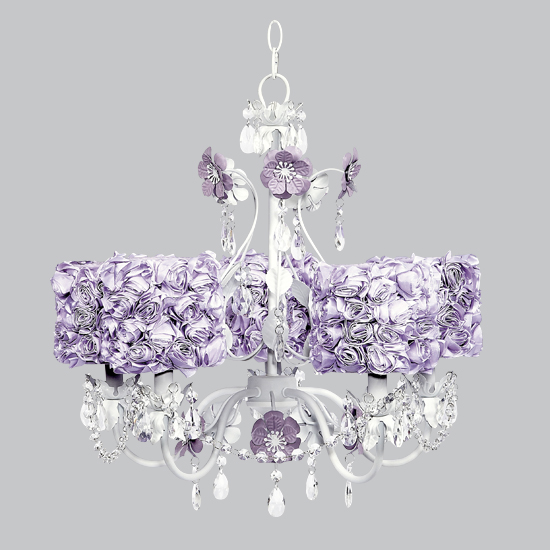 Chandelier Flower Garden 5 Light Lavender Bright Idea