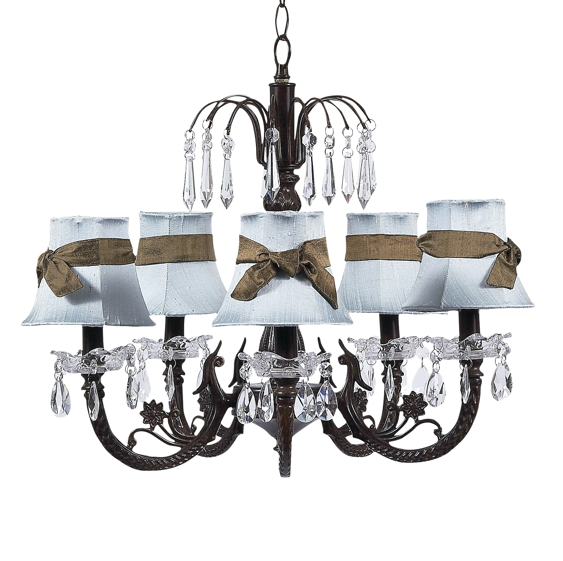 Chandelier Waterfall 5 Light Mocha Bright Idea