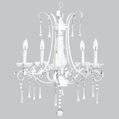 Chandelier Colleen 5 Light White