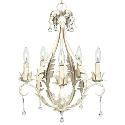 Chandelier Caesar 5 Light  Ivory