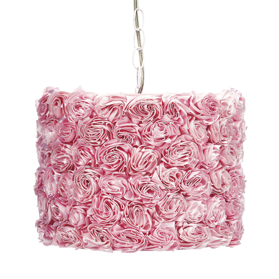 Pendant Light Pink Rose Garden