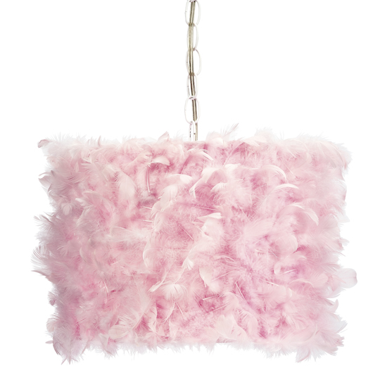 Pendant Light Pink Feather