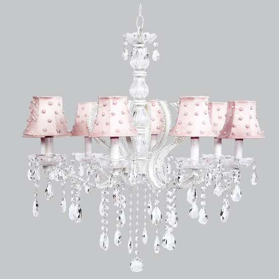 Chandelier Pageant 8 arm White Bright Idea