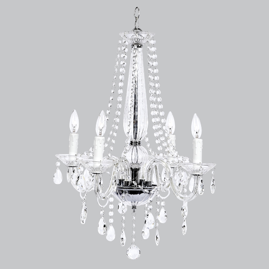 Chandelier Middleton  4 Light Glass