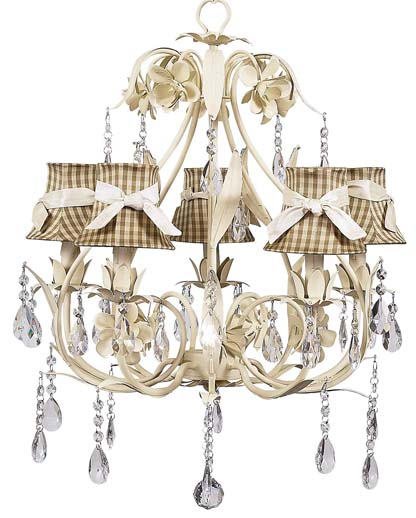 Chandelier Ballroom 5 Light Ivory Bright Idea