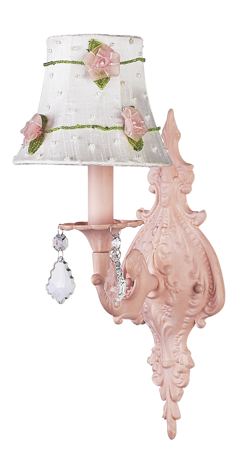 Wall Sconce 1 arm Scroll Pink Bright Idea