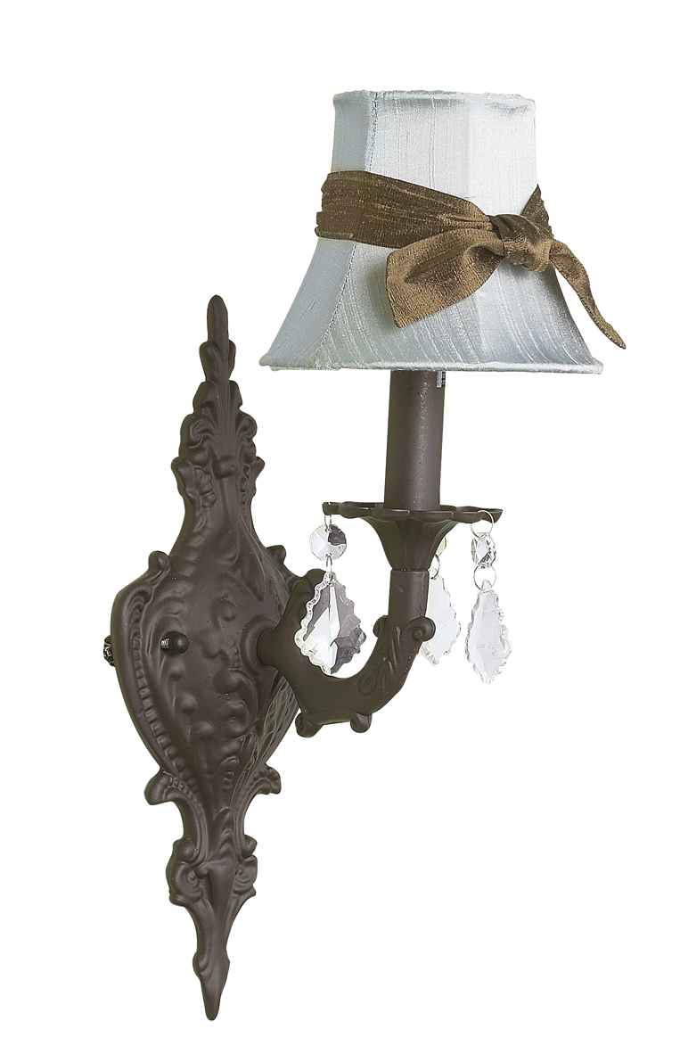 Wall Sconce 1 arm Scroll Mocha Bright Idea