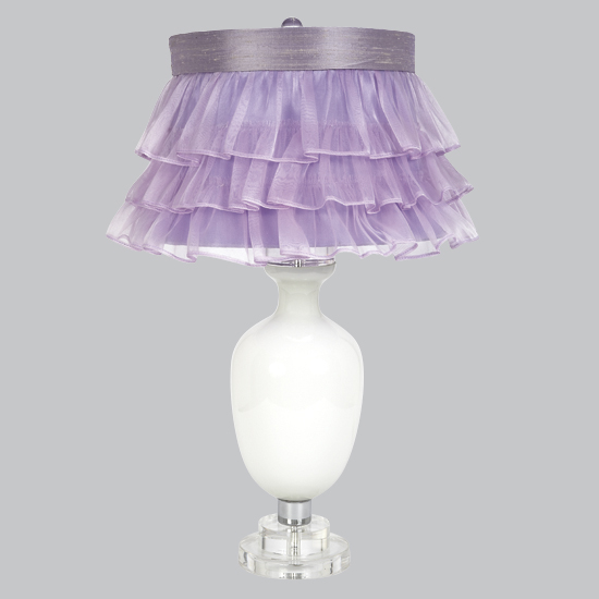 Lamp Base Large Traditional White Opaque Bright Idea