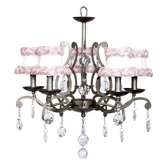 Chandelier Elegance 5 Light Pewter Bright Idea